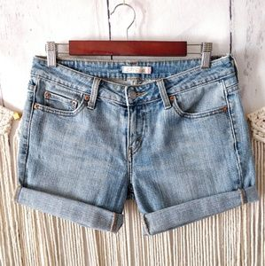 Levi's 545 Light Blue Low Rise Cut-Off Shorts 6